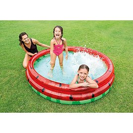 Intex 66-Inch Round Inflatable Outdoor Kids Swimming and Wading Watermelon Pool for Ages 2 and Up