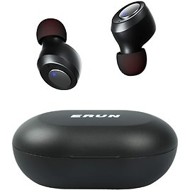 ERUN Wireless Bluetooth Earbuds with Charging Case (Black) for $7.99