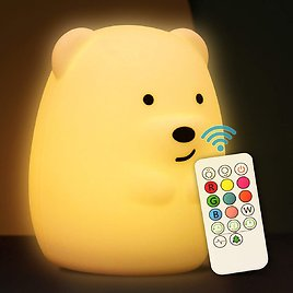Gifunes Soft Silicone Baby Nursery Night Light with Remote Control for $12.34