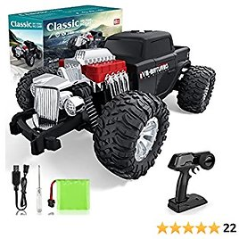 Growsly Classic RC Cars High Speed Remote Control Car for Kids Adults, 1:14 Scale 30 KM/H 4WD Off Road Monster Trucks, 2.4GHz All Terrain Toy Trucks with Rechargeable Battery for Boys Girls Kids