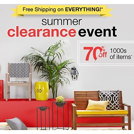 70% Off Overstock Summer Clearance Event