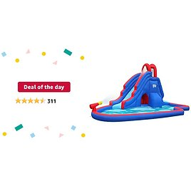 Deal of The Day: Sunny & Fun Deluxe Inflatable Water Slide Park