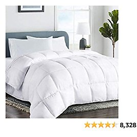 COHOME Full 2100 Series Warm Comforter Down Alternative Quilted Duvet Insert with Corner Tabs All-Season - Luxury Snuggly Hotel Comforter - Reversible - Machine Washable - White