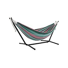 Vivere Double Cotton Hammock with Space Saving Steel Stand for $89.99