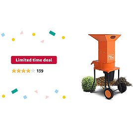 """Limited-time Deal: SuperHandy Leaf Mulcher Shredder Electric Green and Waste Management Heavy Duty 120V AC 11"""" Inch Cutting Blade .5"""" Inch Cutting Capacity for Leaves, Grass, & Clippings"""