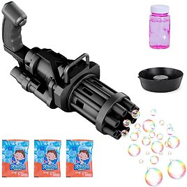 HLXY Gatling Automatic Bubble Blower Machine for $2.99