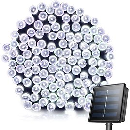 Grezea 72FT Solar Fairy String Lights with 200 LEDs for $10.49