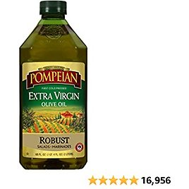 Pompeian Robust Extra Virgin Olive Oil, First Cold Pressed, Full-Bodied Flavor, Perfect for Salad Dressings & Marinades, 68 FL. OZ.