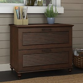 Bush Furniture Kathy Ireland Home Volcano Dusk Lateral File Cabinet for $234.59