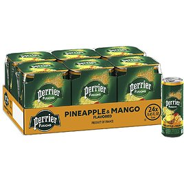 Perrier Fusions, Pineapple and Mango Flavor, 8.45 Fl Oz. Cans (24 Count) $14.90