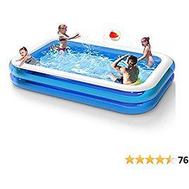 """Inflatable Swimming Pool, 120"""" 72"""" 20"""", Thickened Abrasion Resistant Full-Sized Swimming Pool, Family Interaction Summer Water Party Swimming Pool, for Family, for Garden, Backyard, Outdoor"""