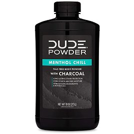 Dude Body Powder Menthol Chill with Charcoal Bottle,10 Oz for $14.96