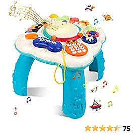 STOTOY Baby Toys Musical Learning Table for Boys, Toddler Toys for Girls Age 3-4, Early Education Activity Center Table for Toddles with Lights and Melodies, Toys Gifts for 3 4 5 6 7 Years Old Kids
