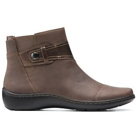 Clarks Womens Cora Tropic Taupe Combi Boots