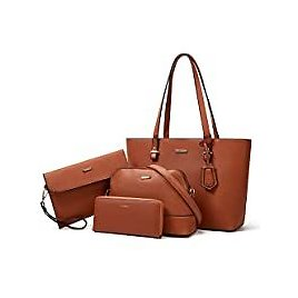 4-Pieces Lovematch Synthetic Leather Handbags for $21.59