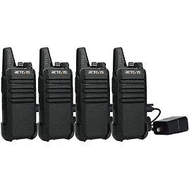 4-Pack Retevis Two Way Radio Long Range Rechargeable Walkie Talkie for $38.34