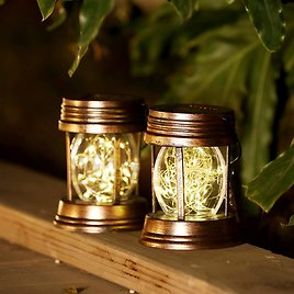 2-Pack Yjfwal Hanging Solar Lights for $13.99