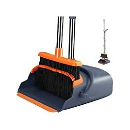 Kelamayi Broom and Dustpan Set with 55.9 Inch Long Handle for $24.63