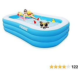 Inflatable Swimming Pool Kiddie Pools, PANMAX Family Swimming Pool for Kids Adults, Full-Sized Inflatable Blow Up Kids Pool for Ages 3+,Above Ground,Garden,Backyard,Outdoor