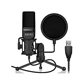 XIIVIO Plug & Play Computer PC Microphone Mic with Tripod Stand for $14.40
