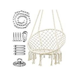 WBHome Hammock Cotton Rope Hanging Macrame Swing Chair for $38.99