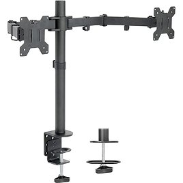 VIVO Dual LCD LED 13 to 27 Inch Monitor Desk Mount Stand