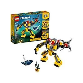 207-Pieces Lego Creator 3-In-1 Underwater Robot Building Kit for $14.99