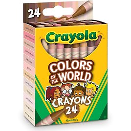 Crayola Classroom Bundle Colors of The World Crayons 6pk/24ct, Child, 144 Pieces