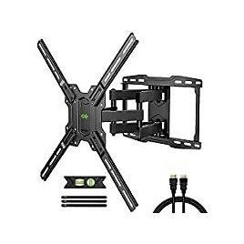 """Full Motion TV Wall Mount for 42""""-75"""" TVs + HDMI Cable + Level for $19.49"""