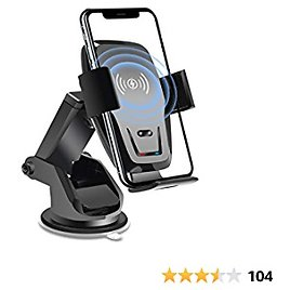 Wireless Car Charger Mount Auto Clamping Qi 10W 7.5W Fast Charging Car Phone Holder Air Vent Mount Charger for IPhoneiPhone 11/11Pro/11ProMax/XSMax/XS/X/8/8, Samsung S20/S10/S9 Note 20/10