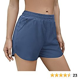 Aloodor Womens Shorts for Summer with Pockets Quick Dry Dolphin Shorts