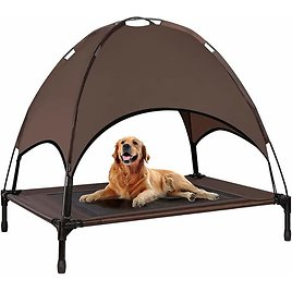 Outdoor Dog Bed with Canopy