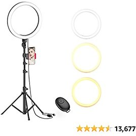 """10"""" Selfie Ring Light with Tripod Stand & Cell Phone Holder for Live Stream/Makeups."""