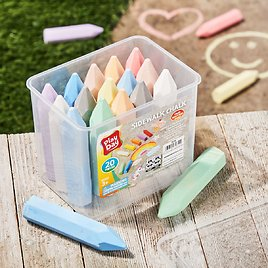 Play Day Sidewalk Chalk, 20 Pieces, Assorted Colors