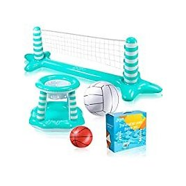 Joyjoz Inflatable Pool Float Volleyball Set for $12.00