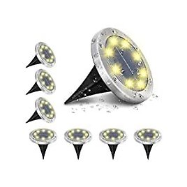 8-Pack AMBOTHER Solar Waterproof 8 LED Outdoor Garden Lights for $14.80