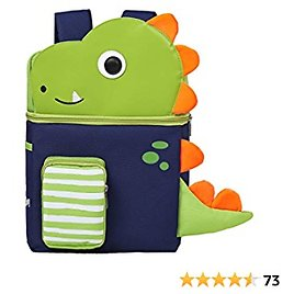 Toddler Backpack with Leash and Chest Strap for Boys Girls, Cute 3D Kindergarten School Bookbag for Kid