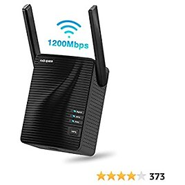 Rockspace WiFi Range Extender - AC1200 Dual-Band and Double-Antennas WiFi Repeater (2020 1200RPT) Equipped with WPS Button & Ethernet Port, Supports Both Wired and Wireless Connection