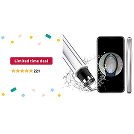Limited-time Deal: GOODtime Visible Blackhead Remover, Pimple Popper Tool, Pore Cleaner with Ultra HD Camera and Lights, Rechargeable, Comedones Blackhead Extractor Tool for IPhone, IPad & Android Smart Phones