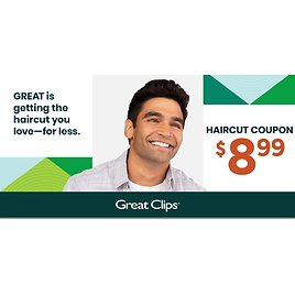 Great Clips Haircuts Only $8.99 w/ Coupon + $2 Seniors Discount