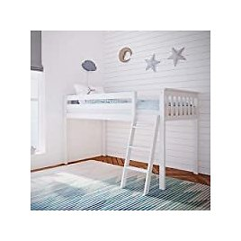 Max & Lily Solid Wood Twin-Size Low Loft Bed for $223.50