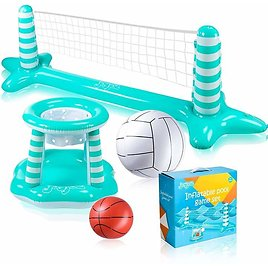 50%off Inflatable Pool Volleyball Set 💦💦
