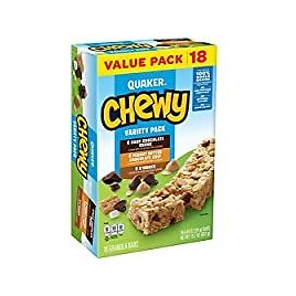 18-Count Quaker Variety Pack Chewy Granola Bars for $3.55