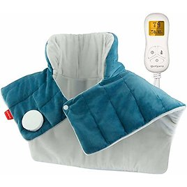 Weighted Heating Pad for Neck and Shoulders, Comfytemp 2.2lb Large Electric Heated Neck Shoulder Wrap for Pain Relief - 9 Heat S