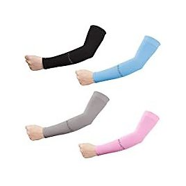 4-Pack Kolamom UV Protection Compression Long Arm Sleeves for $7.99