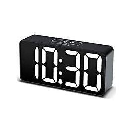DreamSky Compact Digital Alarm Clock with USB Port for Charging for $16.14