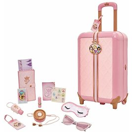 Disney Princess Travel Suitcase Play Set for Girls with Luggage Tag