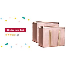Limited-time Deal: Insulated Grocery Bags, Fabric, 2-Pack