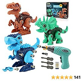 Kids Toys Stem Dinosaur Toy: Take Apart Dinosaur Toys for Kids 3-5  Learning Educational Building Construction Sets with Electric Drill  Birthday Gifts for Toddlers Boys Girls Age 3 4 5 6 7 8 Year Old