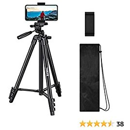 """THIKPO 50-Inch Lightweight Tripod, Portable Travel Tripod 50"""" Aluminum Alloy Phone Tripod with 1/4"""" Mounting Screw, Phone Holder, Carry Bag for Travel/Camera/Cellphone/Tiktoker"""